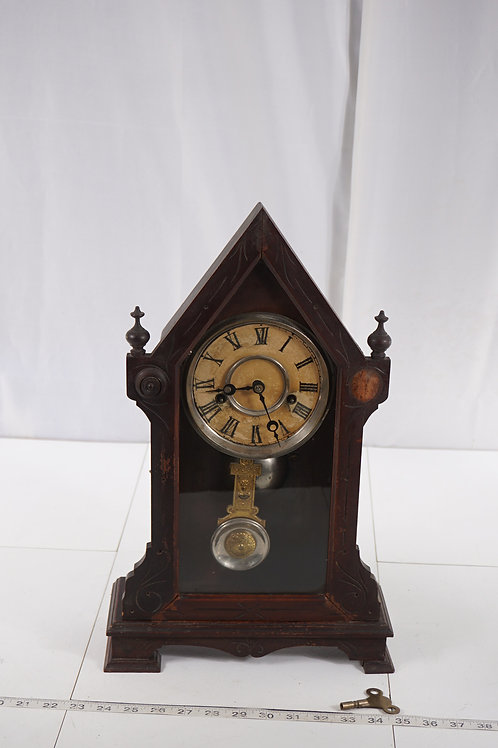 Ca 1900s Mantle Clock Mfg By New Haven Clock Co - Works