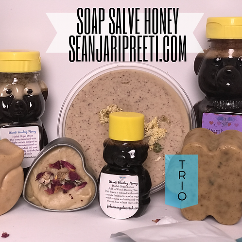 SOAP SALVE HONEY TEA DETOX TRIO SET