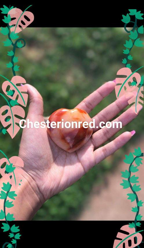 Carnelian Heart Multicolored Heart