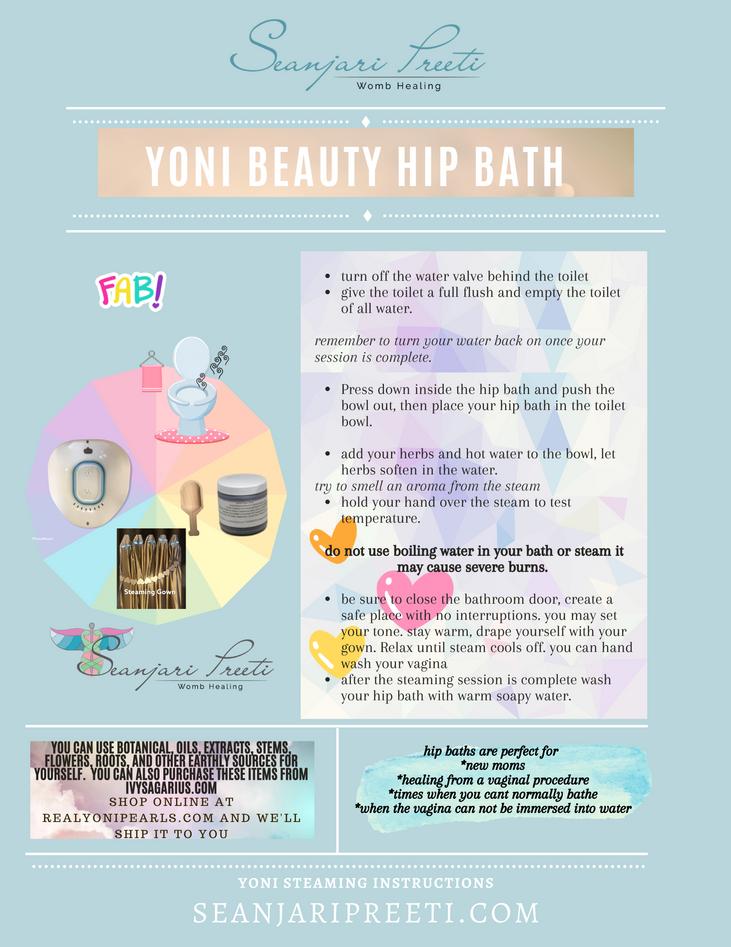 Hip Bath Steam Seat Instructions