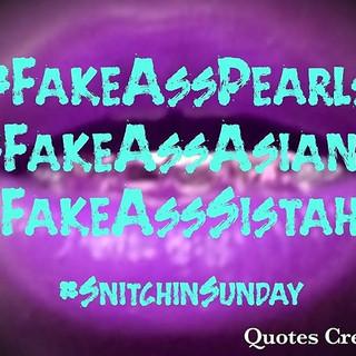 #snitchinsunday #snitchesgetstitches #sn