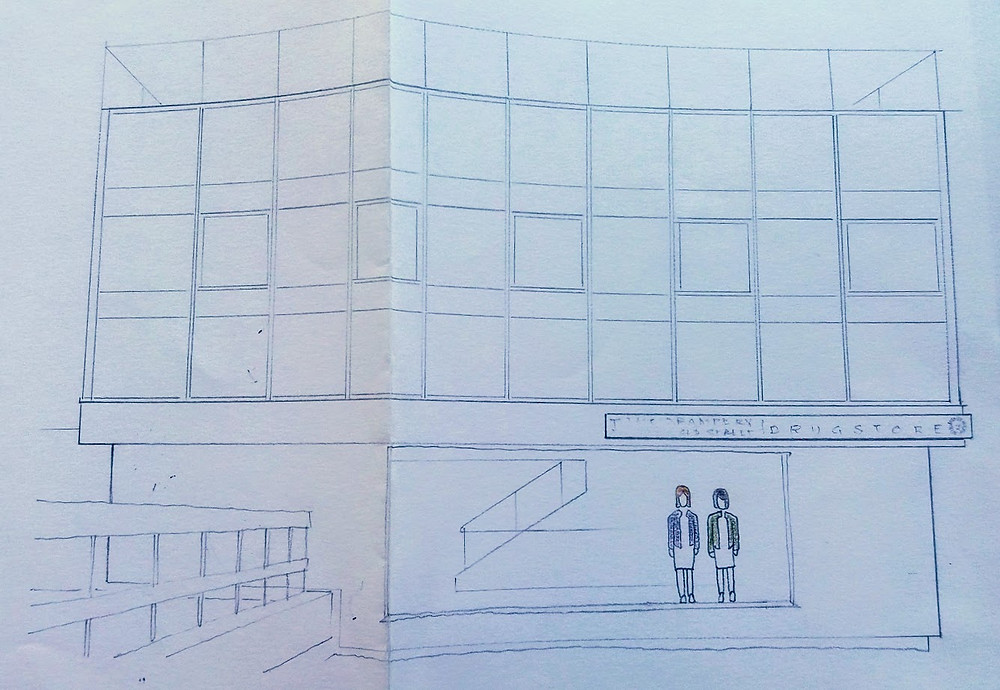 A fabulous drawing of us in the new office. Huge thanks to Will York.