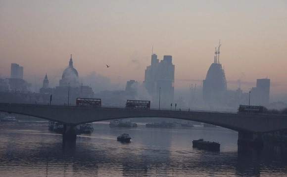 Smog in London, January 2018