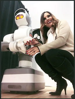 Cindy with Aeolus Robot 2018 CES.JPG