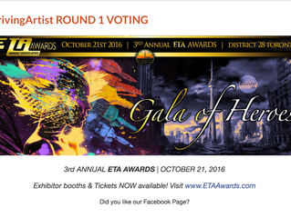 Vote for me for the Thriving Artist Award!