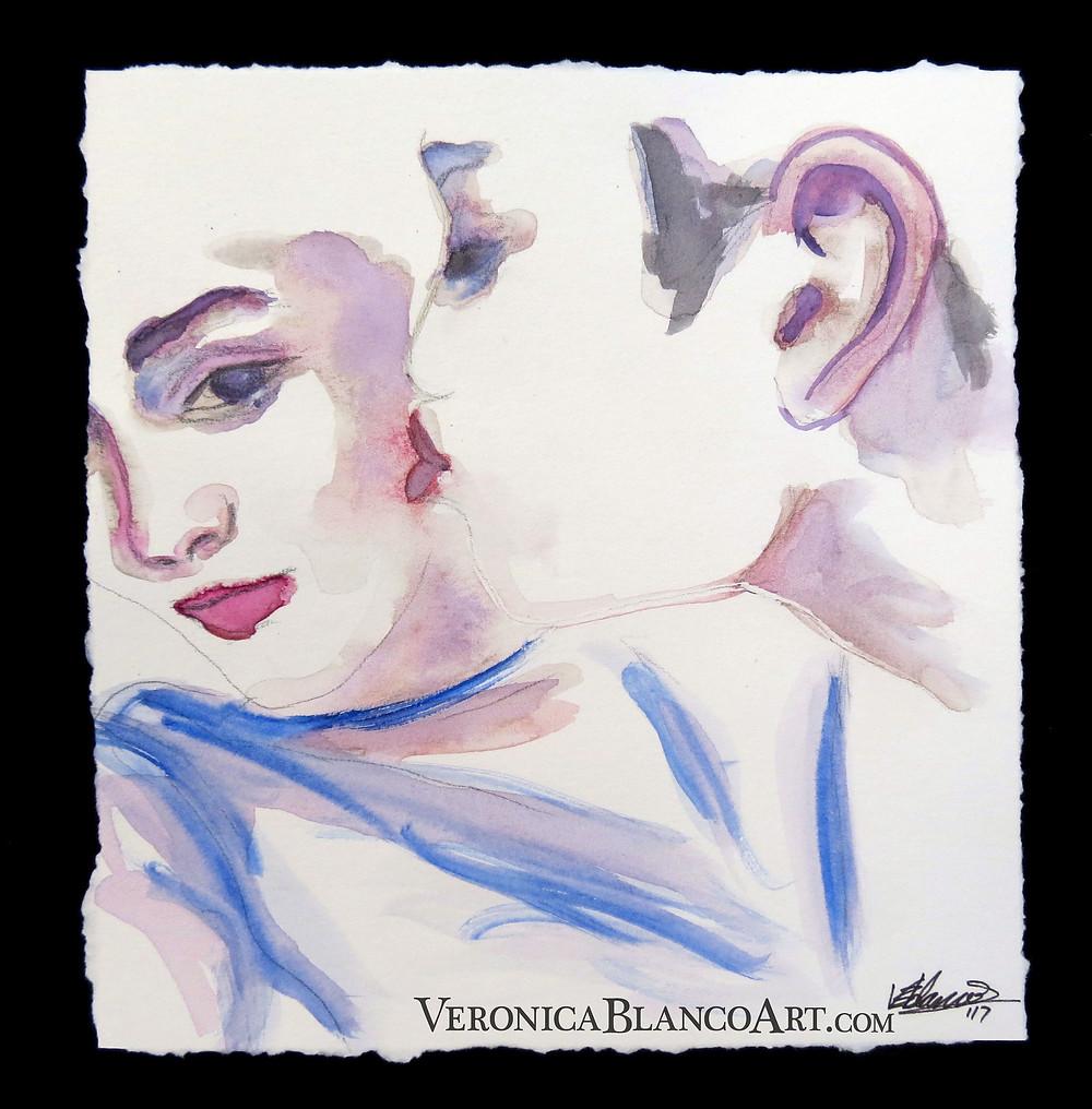 Veronica Blanco watercolour painting