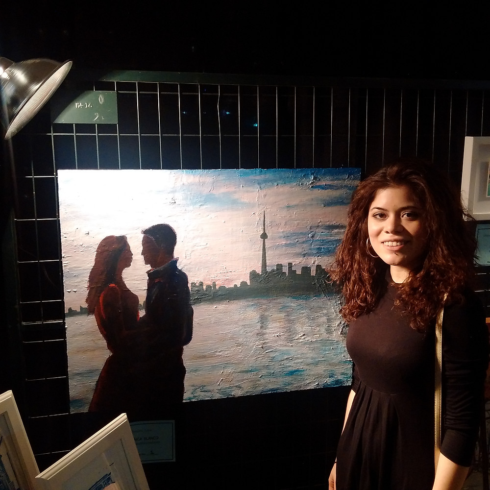 Veronica Blanco at Lerners Art Fundraiser
