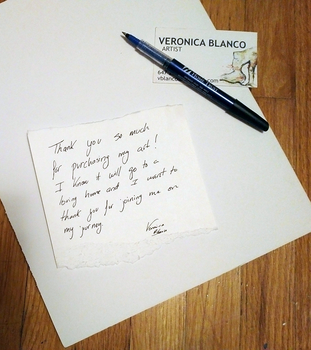 Veronica Blanco Shipping Art Process