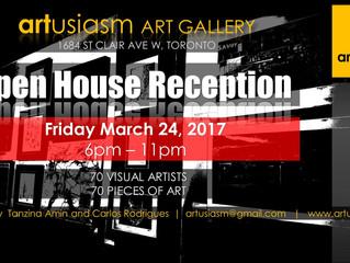 Artusiasm Open House Reception!