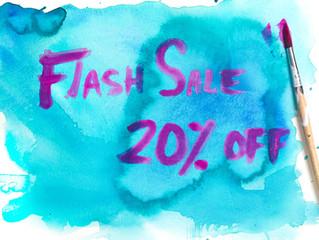 FLASH SALE! 20% OFF