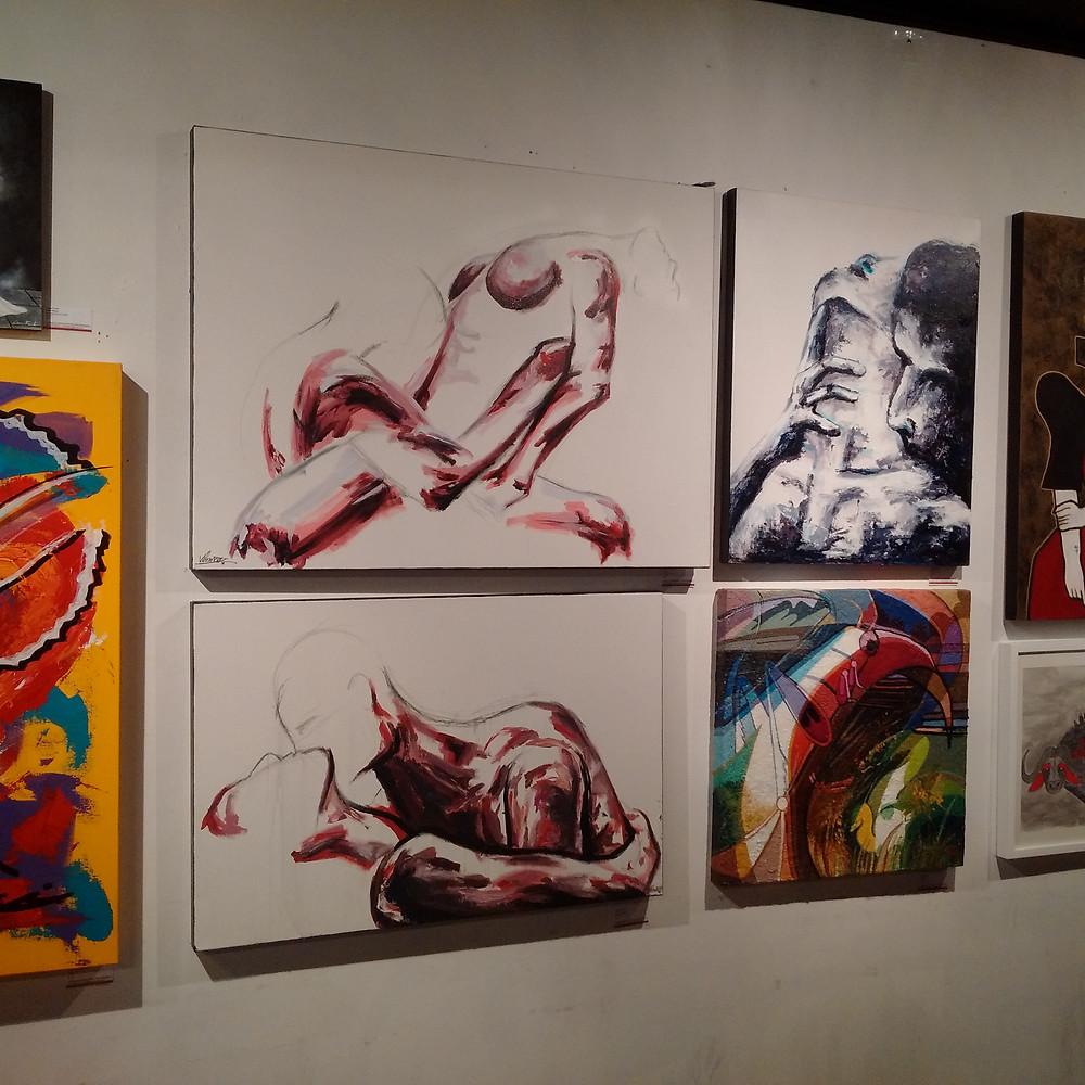 Veronica Blanco artwork at the Super Wonder Gallery Toronto