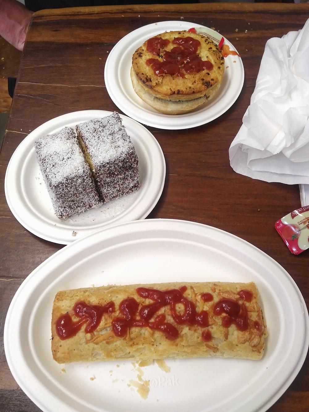 Meat Pie, Lamington, Sausage Roll