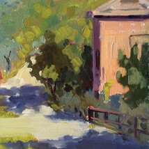 """Sunlit Tuscany"" oil on paper"