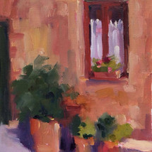"""""""Montisi Window""""  oil on paper"""