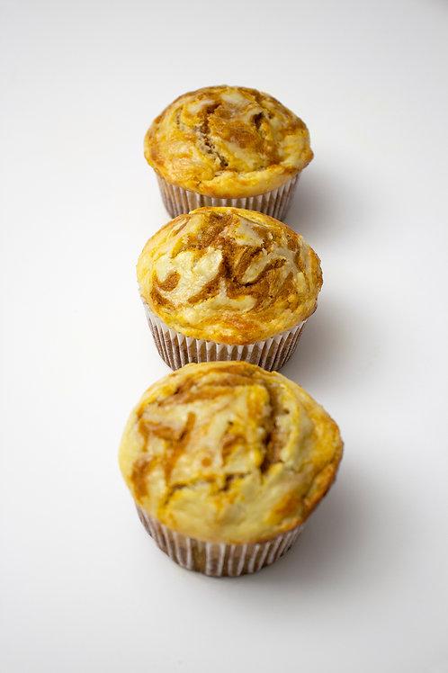 Pumpkin Spice Cream-cheese Swirl Muffins