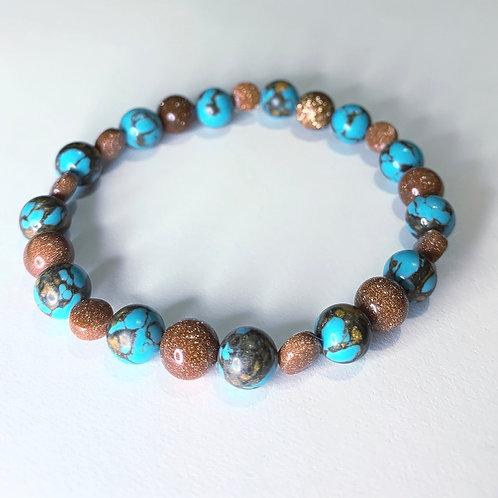 Turquoise Collection: Jasper & Goldstones