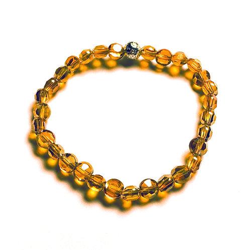 Crystal and Lava Stone Bracelet