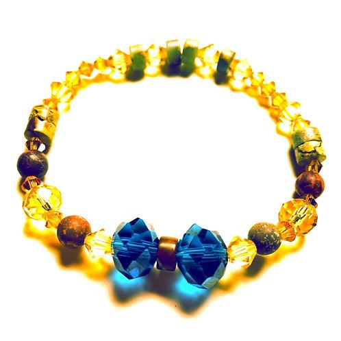 Jasper and Crystal Bracelet