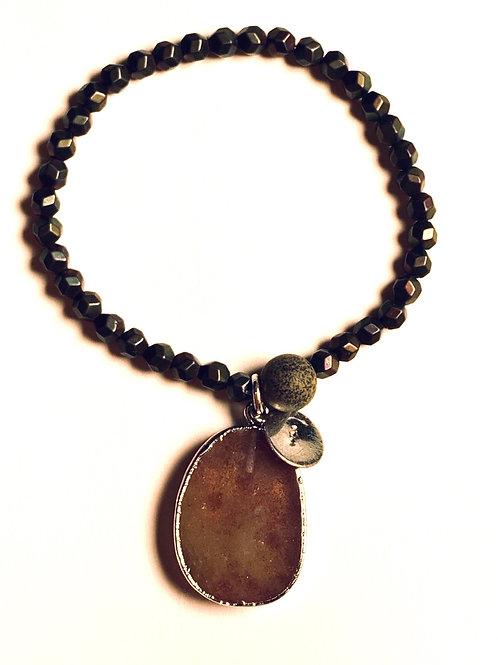 Quartz and Hematite Bracelet