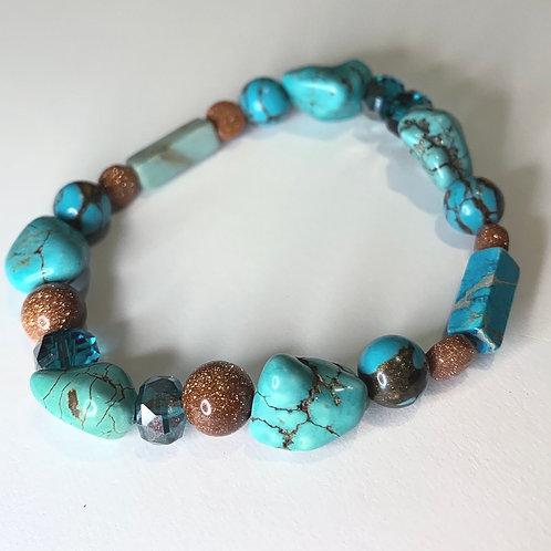 Turquoise Collection: Howlite, Jasper & Goldstones