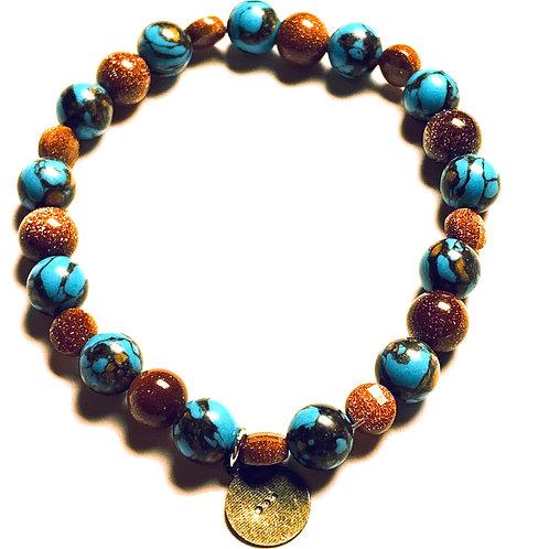 Goldstone and Howlite Bracelet
