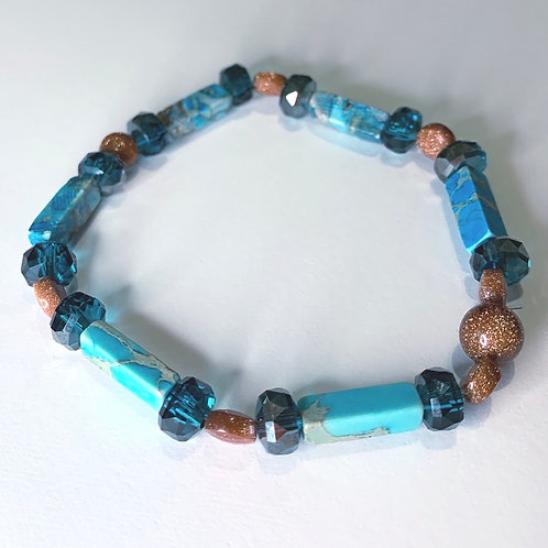 Turquoise Collection: Jasper & Gold Sandstone