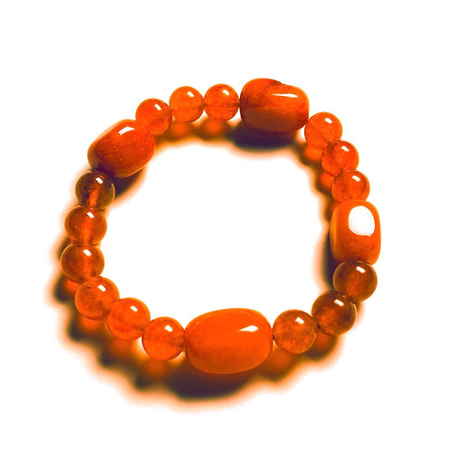 Agate Three Stone Bracelet