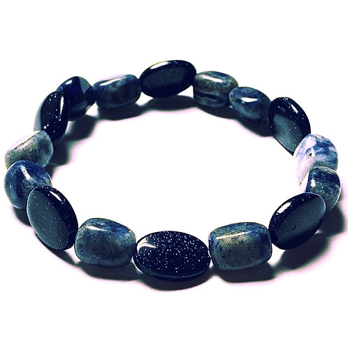 Soladite and Blue Goldstone Bracelet