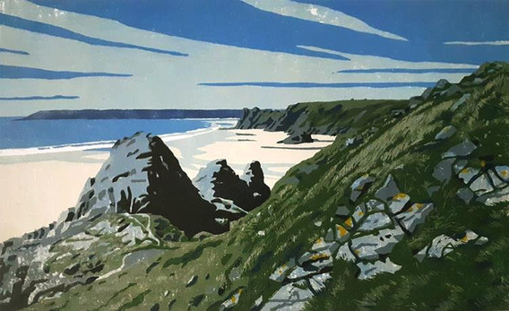 Descent intoThree Cliffs Bay