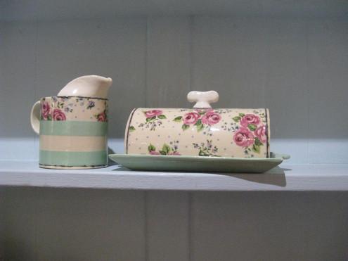 Virginia Graham butter dish and jug
