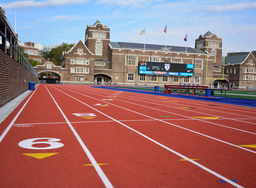 Franklin Field: Athletic Track and Field Installation
