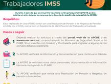 Retiro total vía remota para trabajadores del IMSS