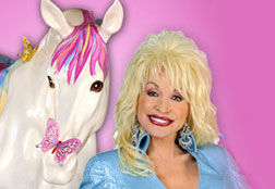 Dolly Parton with Colt of Many Colors