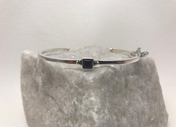 Onyx set in Sterling Silver Cuff Bracelet
