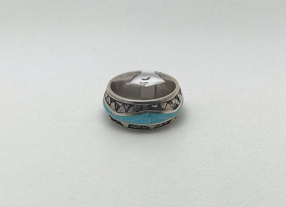 Sleeping Beauty Inlay Ring
