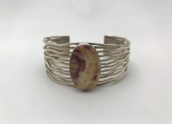 Rainwater Cuff Bracelet with Spinny Oyster