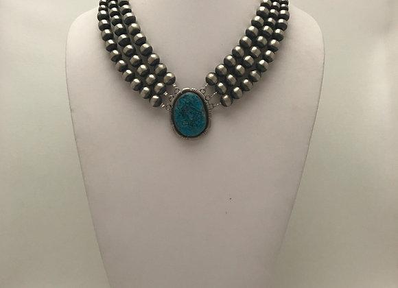 3 Strand Navajo Pearl Necklace