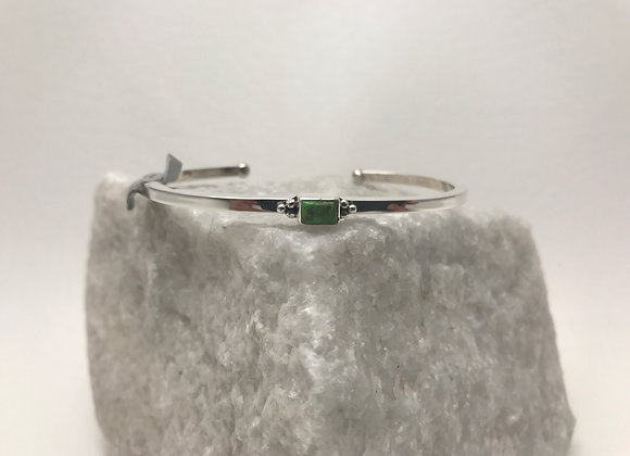 Gaspeite set in Sterling Silver Cuff Bracelet