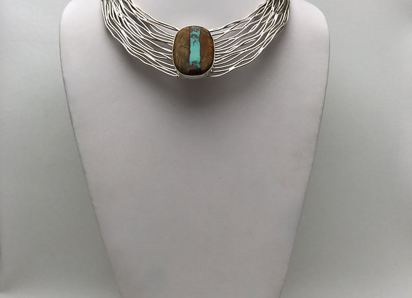 Rainwater Choker with Boulder Turquoise