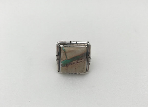 Navajo Ring with Bolder Turquoise