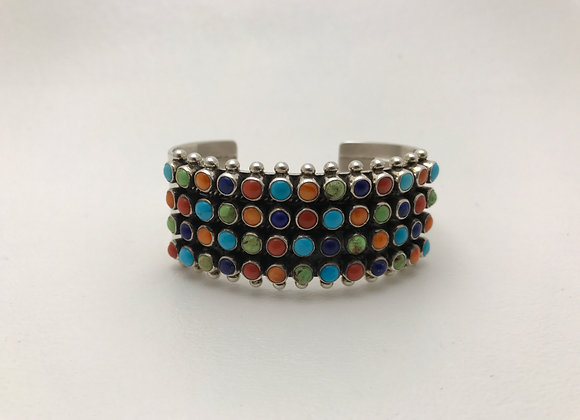 Multi Stone Cuff Bracelet