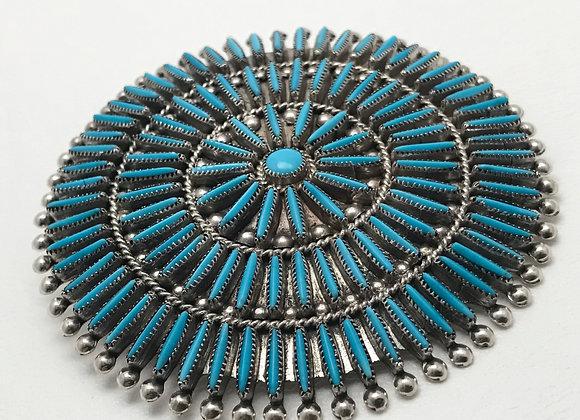 Sleeping Beauty Turquoise Pendant/Pin