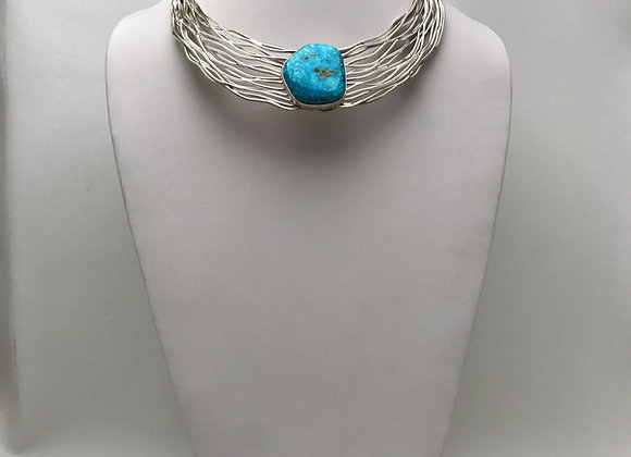Rainwater Choker with Kingman Turquoise