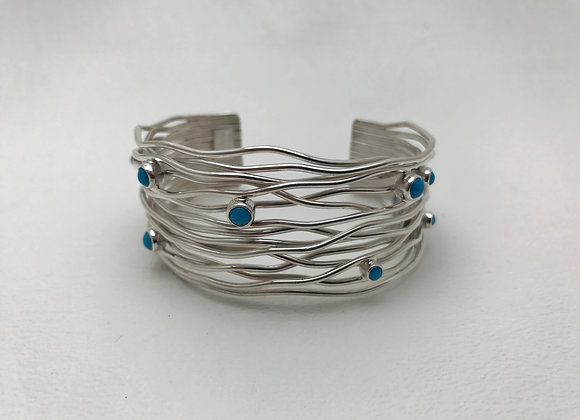 Rainwater Cuff Bracelet with Sleeping Beauty
