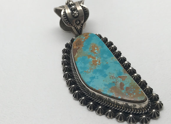 Royston Turquoise set in Sterling Silver Pendant