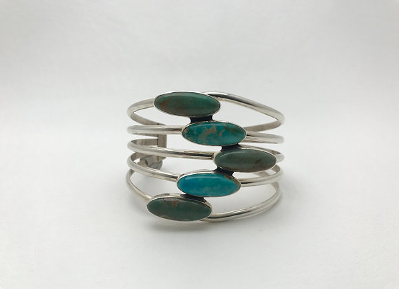 Emerald Valley and Kingman Turquoise Cuff Bracelet