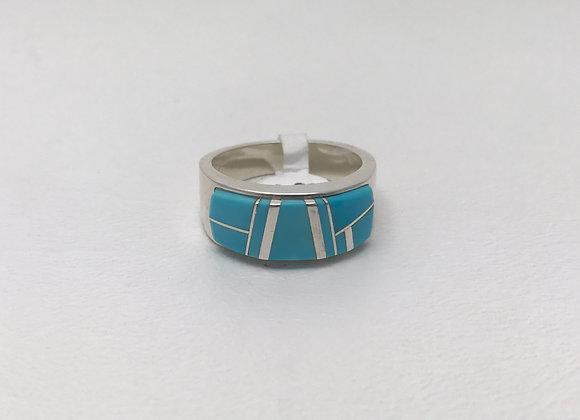 Navajo Sleeping Beauty Inlay Ring