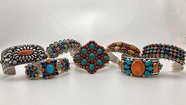 Native American bracelets, Men and women bracelets, Cuff bracelets, link bracelets, sterling silver, genuine stones
