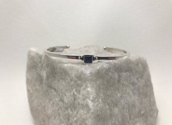 Lapis set in Sterling Silver Cuff Bracelet