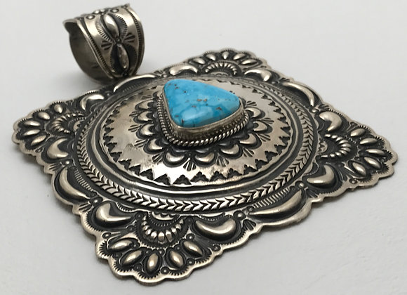 Ithaca Turquoise set in Sterling Silver Pendant